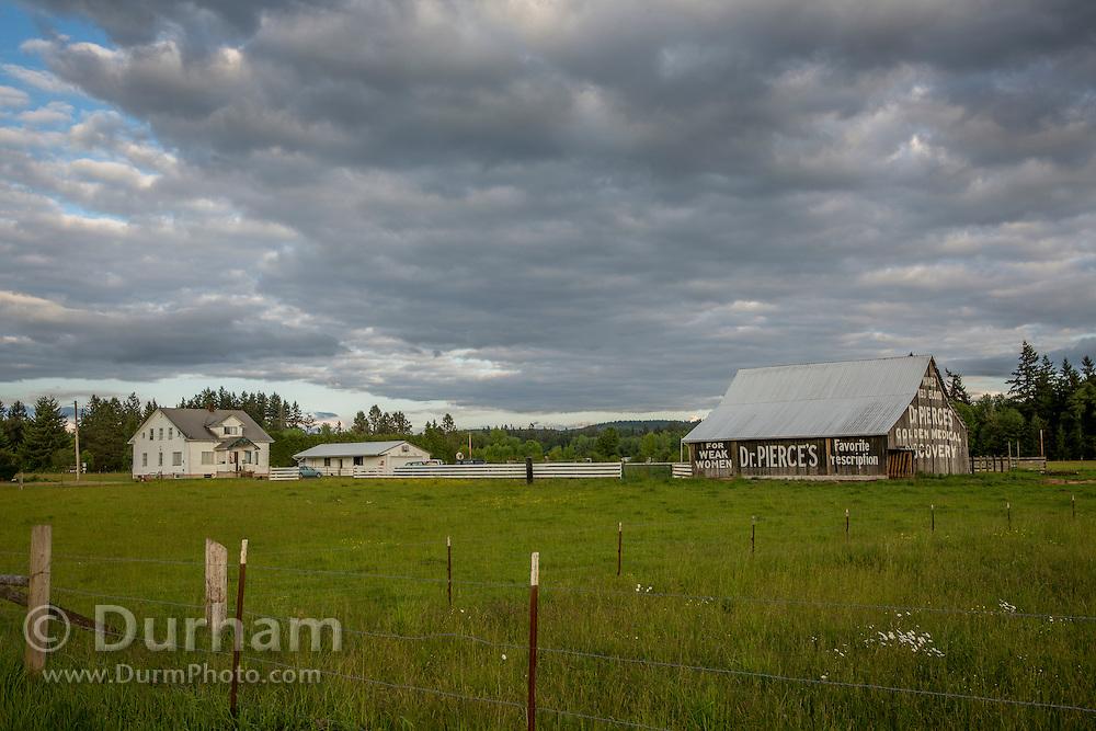 An old barn in Toldeo, Washington advertises a medical remedy. © Michael Durham / www.DurmPhoto.com