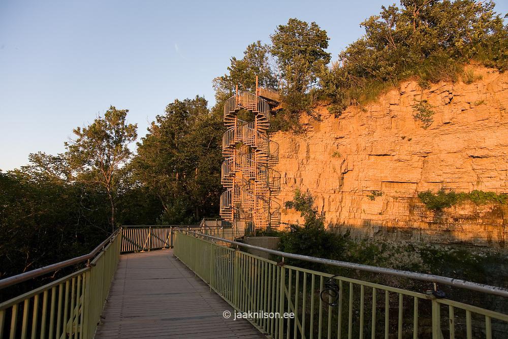 Valaste Viewing Platform and Limestone Wall, Ida-Viru County, Estonia