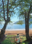 Landscape and water with outrigger Lihue Hawaii, Marriott Resort Lihue,Hawaii