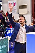 Gianmarco Pozzecco<br /> Banco di Sardegna Dinamo Sassari - Pompea Fortitudo Bologna<br /> LBA Serie A Postemobile 2018-2019<br /> Sassari, 15/12/2019<br /> Foto L.Canu / Ciamillo-Castoria