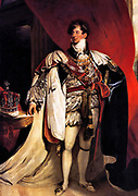 George IV 1762 – 1830, King of Great Britain  1820 - 1830. Portrait as prince Regent by Thomas Lawrence 1822