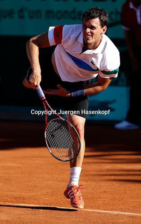French Open 2011, Roland Garros,Paris,ITF Grand Slam Tennis Tournament . Tobias Kamke (GER),.Einzelbild,Aktion,