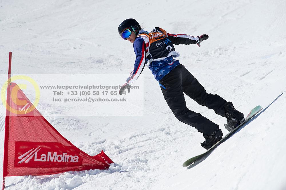 HUCKABY Brenna, Banked Slalom, 2015 IPC Snowboarding World Championships, La Molina, Spain