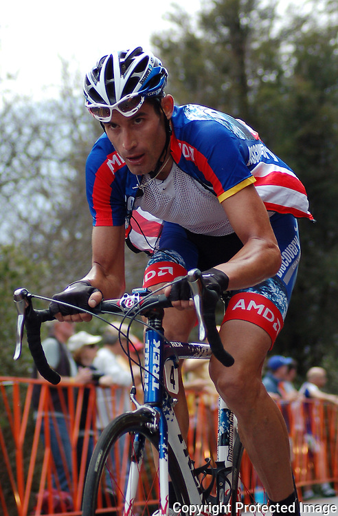 George Hincapie on the Brasstown Bald Climb in the 2007 Tour de Georgia