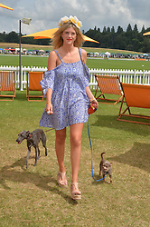 ANNABEL SIMPSON at the Veuve Clicquot Gold Cup Final at Cowdray Park Polo Club, Midhurst, West Sussex on 20th July 2014.