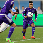 Cristian Higuita, Orlando, in action during the New York City FC Vs Orlando City, MSL regular season football match at Yankee Stadium, The Bronx, New York,  USA. 18th March 2016. Photo Tim Clayton