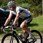 UK, September 15 2011: Team HTC's Mark Renshaw on Woodbury Common during the fifth stage of the 2011 Tour of Britain. Renshaw went on to win the stage in Exmouth. The stage started in Exeter and finished in Exmouth. Copyright 2011 Peter Horrell