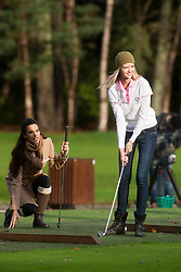 Miss Spain Carla Garcia Barber and Miss USA Erin Cummins..The Miss World participants play golf at the world famous Gleneagles Hotel, host of The Ryder Cup 2014..MISS WORLD 2011 VISITS SCOTLAND.