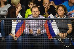 Slovenian fanbefore  friendly handball match between Slovenia and Nederland, on October 25, 2019 in Športna dvorana Hardek, Ormož, Slovenia. Photo by Blaž Weindorfer / Sportida