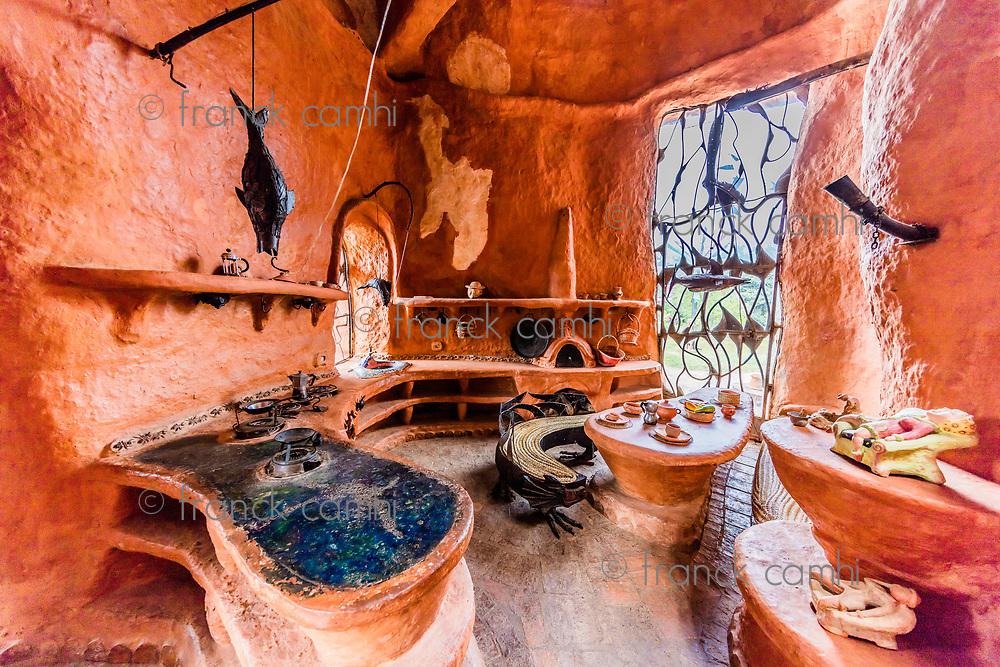 Villa De Leyva, Colombia  - February 8, 2017 : Casa Terracota House Villa de Leyva Boyaca in Colombia South America