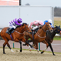 Raging Bear and Ryan Moore winning the 3.45 race