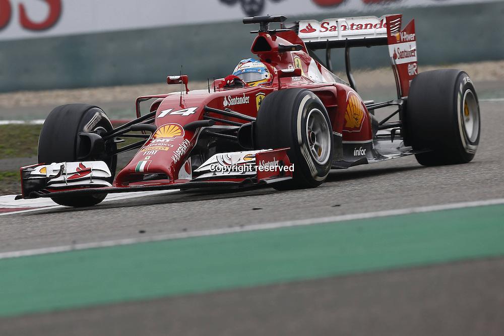 20.04.2014. SHanghai, China.  Motorsports: FIA Formula One World Championship 2014, Grand Prix of China, 14 Fernando Alonso (ESP, Scuderia Ferrari) on his way to a 3rd place finish