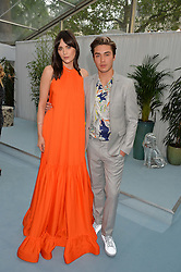 LILAH PARSONS and GEORGE SHELLEY at the Glamour Magazine Women of the Year Awards in association with Next held in the Berkeley Square Gardens, London on 7th June 2016.