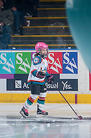 KELOWNA, CANADA - JANUARY 18: The Pepsi Player skates with the Kelowna Rockets against the Moose Jaw Warriors on January 18, 2017 at Prospera Place in Kelowna, British Columbia, Canada.  (Photo by Marissa Baecker/Shoot the Breeze)  *** Local Caption ***