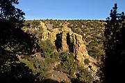 Moss covers a rock formation along the Arizona Trail, north of Patagonia, Arizona, USA.
