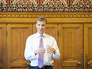 "Chris Philp launches a new report in conjunction with the High Pay Centre entitled ""Restoring Responsible Ownership"" at The House of Commons, Westminster, London, Great Britain on 5th September 2016. <br />