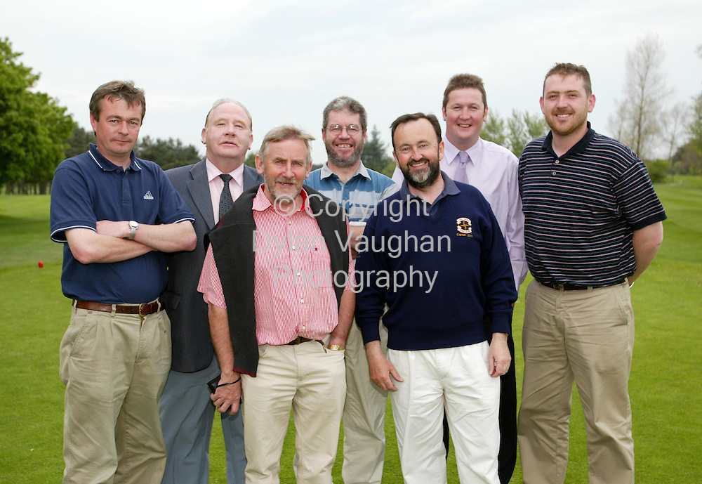 Pictures for the Construction Industry Federation..Pictured at the Construction Industry Federation golf at Carlow Golf Club was from back from left  Eamon Brophy, Brendan Morrissey, Dan McInerny, Simon Walton and  Brendan Meyler.Front from left Tim Madden and Joe Watters of Carlow Local Authority..Picture Dylan Vaughan