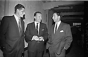 26/09/1962<br /> 09/26/1962<br /> 26 September 1962<br /> Opening of Earl Bottlers Ltd. at South Earl Street, Dublin. Minister for Justice Charles Haughey opened the new premises that produced Sandyman port. Picture shows Mr Haughey (centre) with two of the Directors of Earl Bottlers Ltd., Mr Nigel Beamish and Mr W. Campbell.