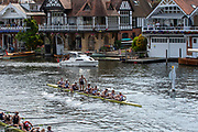 Henley on Thames, England, United Kingdom, Sunday, 07.07.19,Roeivereeniging Studenten Vreie Universiteit Okeanos, Netherlands, NED, celebrate after crossing the Finish Line, to win the Thames Challenge Cup Henley Royal Regatta,  Henley Reach, [©Karon PHILLIPS/Intersport Images]<br /> <br /> 16:06:53 1919 - 2019, Royal Henley Peace Regatta Centenary,