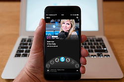 Using iPhone smartphone to display show on BBC radio 5 Live  Network radio station