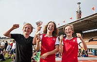 AMSTERDAM  -  3v3 urban hockey in het Olympisch Stadion tijdens de NextGen Games. Gemeente Amsterdam. Athena wint bij de jongens. COPYRIGHT  KOEN SUYK
