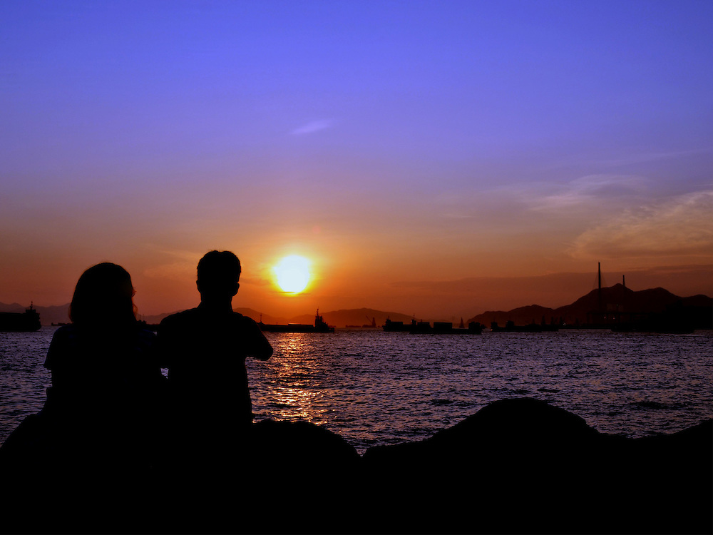 Lovers in Sunset by Joan Pabona.<br />