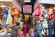 Shopping for clothes in Chandni Chowk, Old Delhi, India.