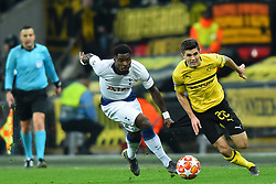 February 13, 2019 - London, England, United Kingdom - Borussia Dortmund midfielder Christian Pulisic is chased down by Tottenham defender Serge Aurier during the UEFA Champions League match between Tottenham Hotspur and Ballspielverein Borussia 09 e.V. Dortmund at Wembley Stadium, London on Wednesday 13th February 2019. (Credit: Jon Bromley | MI News & Sport Ltd) (Credit Image: © Mi News/NurPhoto via ZUMA Press)