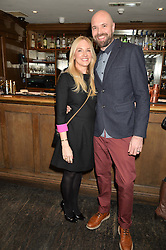 ROSIE NIXON and her husband CALLUM at a party to celebrate the publication of The Stylist by Rosie Nixon held at Soho House, London on 10th February 2016.