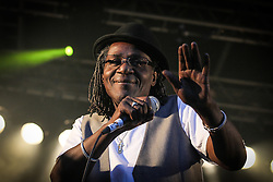 © Licensed to London News Pictures . 31/08/2013 . Rochdale , UK . Neville Staple of The Specials performs with The Neville Staple band at a free gig in Rochdale . Photo credit : Joel Goodman/LNP