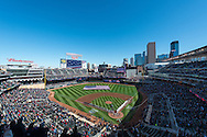 A general view of the national anthem ceremony at Target Field on Opening Day 2013, Minnesota Twins vs. Detroit Tigers on April 1, 2013 in Minneapolis, Minnesota.  The Tigers defeated the Twins 4 to 2.  Photo: Ben Krause