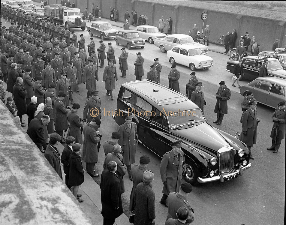 The funeral of Senator Margaret Mary Pearse, the Fianna Fáil politician and teacher and the sister of Patrick Pearse, one of the leaders of the 1916 Easter Rising..09.11.1968