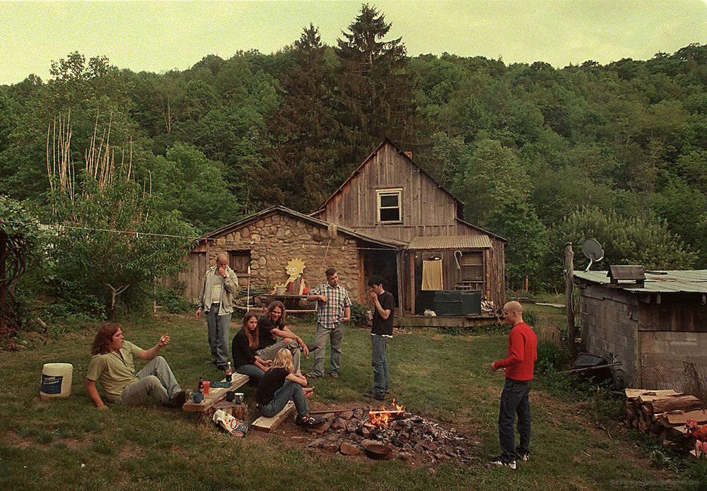 Matt Davis and the Engine guys hang with Ty and Patti Wilson in the backyard of their Cruso, N.C. home prior to a May 28, 1999, set at Stella Blue in Asheville, N.C., the night of his first heart attack.