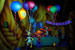 Display on The Many Adventures of Winnie the Pooh, Disneyland, Anaheim, California, United States of America