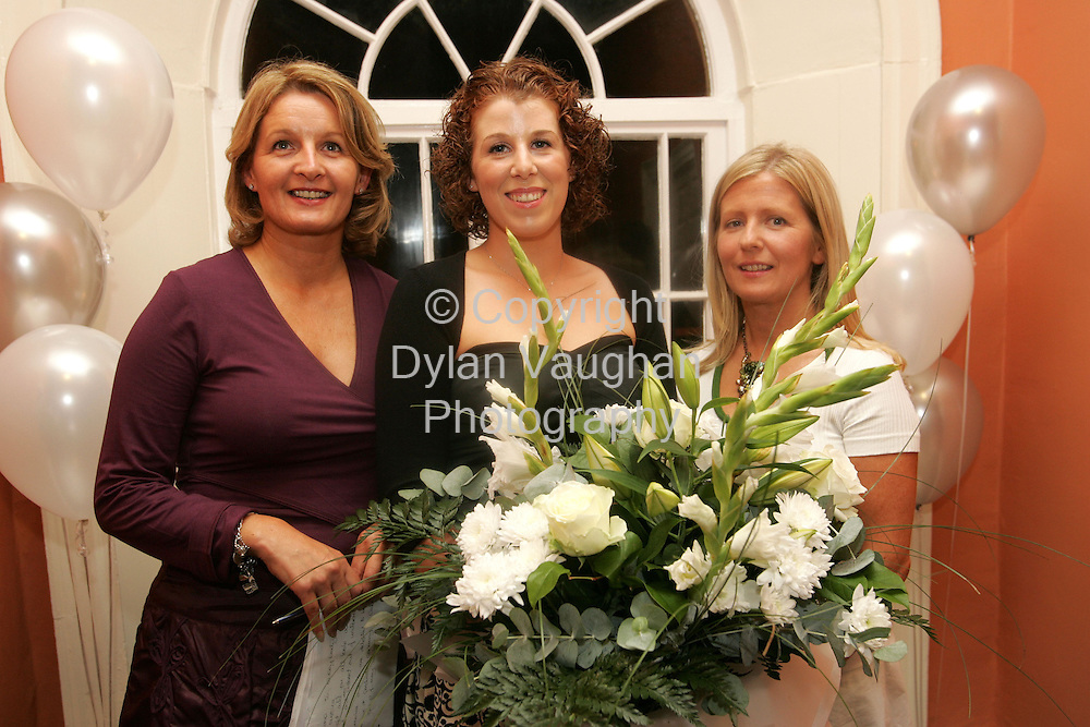 5/9/2005.Pictured at The Institute of Beauty and Complementary Therapies' graduation ceremony in Waterford was Tina Nolan and Caroline Holohan of The Institute presenting Gillian Power( City) with a special award for acheiving outstanding results in Beauty Therapy examinations (full-time)..Picture Dylan Vaughan