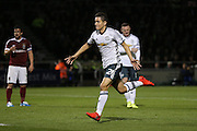 Ander Herrera Midfielder of Manchester United celebrates his goal 1-2 during the EFL Cup Third Round match between Northampton Town and Manchester United at Sixfields Stadium, Northampton, England on 21 September 2016. Photo by Phil Duncan.