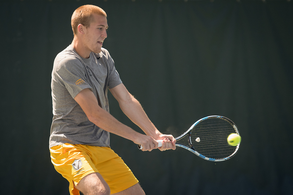 Stanford, CA - Valparaiso Crusader's Men's Tennis in action at the NCAA Tournament at Taube Family Tennis Center Stadium, May 12, 2017.