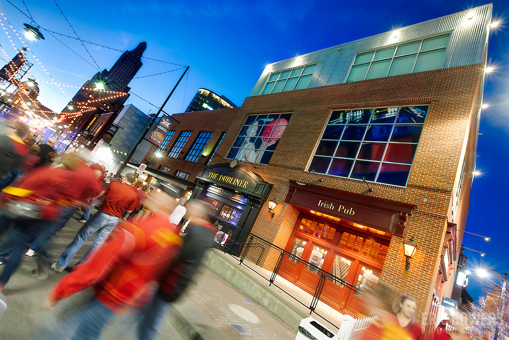 Kansas City's Power and Light District during the 2015 NCAA Big 12 Basketball Tournament