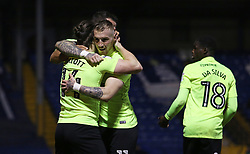 Marcus Maddison of Peterborough United congratulates goal scorer Jack Marriott - Mandatory by-line: Joe Dent/JMP - 13/03/2018 - FOOTBALL - Gigg Lane - Bury, England - Bury v Peterborough United - Sky Bet League One