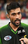 Pakistan's Mohammad Amir.<br /> Pakistan tour of New Zealand. T20 Series. 3rd Twenty20 international cricket match, Bay Oval, Mt Maunganui, New Zealand. Sunday 28 January 2018. © Copyright Photo: Andrew Cornaga / www.Photosport.nz