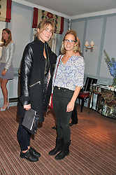 Left to right, CHESSIE GRIEVSON and DAISY HAMBRO at a evening with fashion label Lilah held at Quo Vadis, 26-29 Dean Street, London W1 on 29th May 2013.