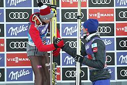 01.01.2017, Olympiaschanze, Garmisch Partenkirchen, GER, FIS Weltcup Ski Sprung, Vierschanzentournee, Garmisch Partenkirchen, im Bild KAMIL STOCH, DANIEL ANDRE TANDE // during second stage of the Four Hills Tournament of FIS Ski Jumping World Cup at the Olympiaschanze in Garmisch Partenkirchen, Germany on 2017/01/01. EXPA Pictures © 2017, PhotoCredit: EXPA/ Newspix/ Tomasz Markowski<br /> <br /> *****ATTENTION - for AUT, SLO, CRO, SRB, BIH, MAZ, TUR, SUI, SWE, ITA only*****