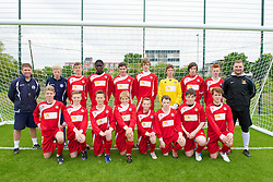 NEWPORT, WALES - Tuesday, May 28, 2013: Central Welsh Premier League Academy Boys during the Welsh Football Trust Cymru Cup at Dragon Park. Back row L-R: xxxx, xxxx, Owen Thomas, Emesh Oghenetega, Liam Berner, Jack Rimmer, goalkeeper Gus Gately, xxxx, Jordan Jones, xxxx. Front row L-R: xxxx, Lewis Chapman, xxxx, Rhys Norrington-Davies, xxxx, xxxx, Kurtis Barber, Alex Jones. (Pic by David Rawcliffe/Propaganda)