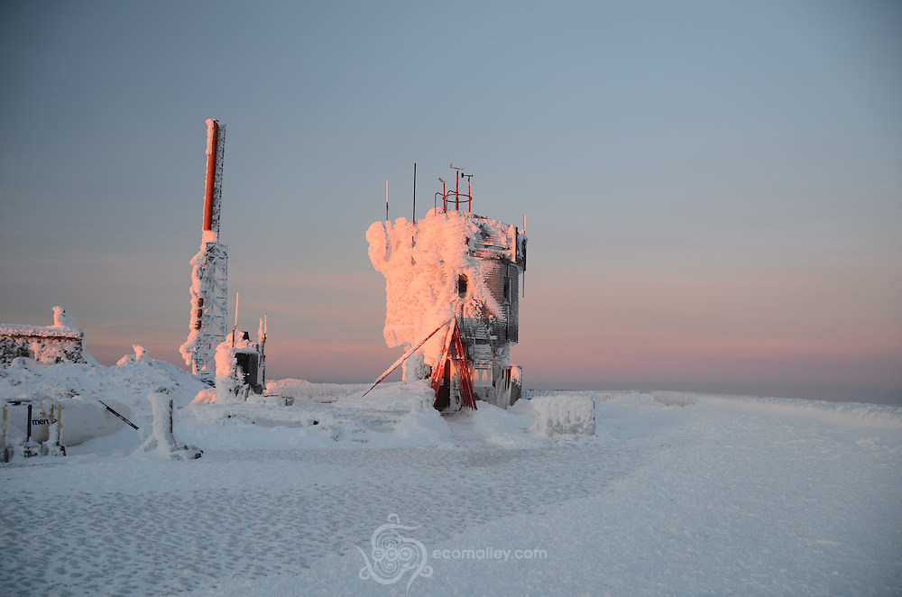 Sunrise at the summit of Mount Washington.
