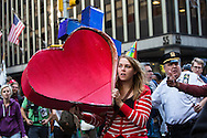 September 17th, New York City, New York: Occupy Wall Street protesters converge on the financial district trying to shut down Wall Street on the movement's one year anniversary. <br /> Occupy Wall Street planned three days of protests and actions marking their first year anniversary in New York City.