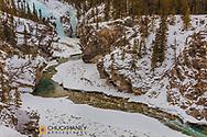 The Cline River Canyon in winter near Nordegg, Alberta, Canada
