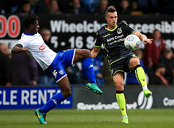 Billy Bodin of Bristol Rovers takes on Greg Leigh of Bury - Mandatory by-line: Matt McNulty/JMP - 19/08/2017 - FOOTBALL - Gigg Lane - Bury, England - Bury v Bristol Rovers - Sky Bet League One