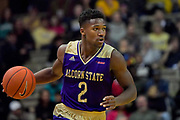 Alcorn State Braves guard Jael Scott (2) controls the ball against the Vanderbilt Commodores during the second half of a NCAA college basketball game in Nashville, Tenn., Friday, Nov 16, 2018. Vanderbilt won 79-54. (Jim Brown/Image of Sport)