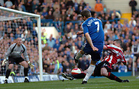 Photo: Tony Oudot.<br />Chelsea v Sheffield United. The Barclays Premiership. 17/03/2007.<br />Andriy Shevchenko of Chelsea fires in a shot past Nick Montgomery of Sheffield United