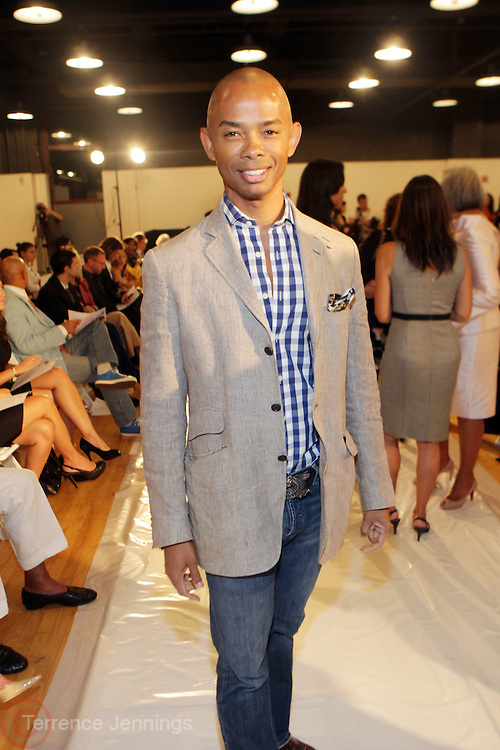 New York, NY- September 14: Spencer Means at the b. Michael America Couture 2012 Spring Fashion Show held at the Museum of Natural History on September 14, 2011 in New York City.  Photo Credit: Terrence Jennings